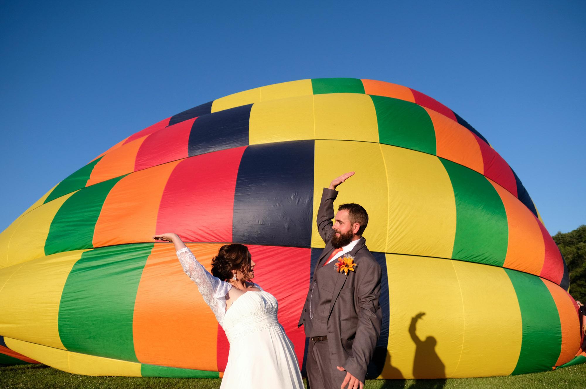 Shawn & Danielle Hot Air Balloon Wedding 26